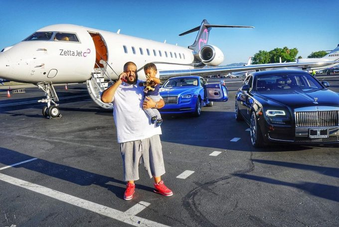 DJ Khaled flies on plane for the first time in 10 years