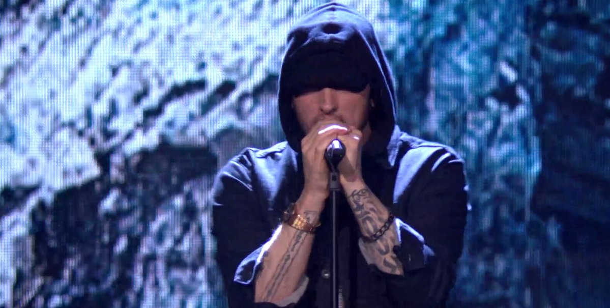 Eminem Performs 'Walk On Water' on MTV EMAs