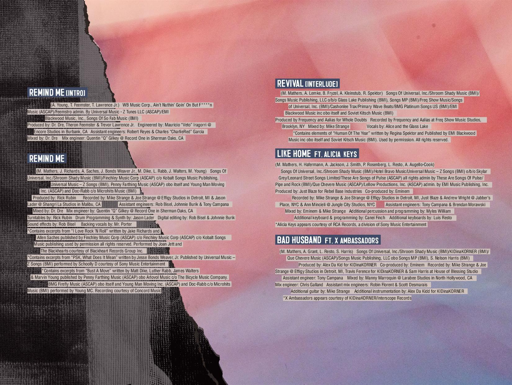 Eminem – 'Revival' (Full Booklet & Production Credits) | HipHop-N-More