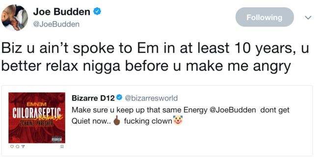 Joe Responded To Bizarres S S But Soon Deleted The Tweets See Below