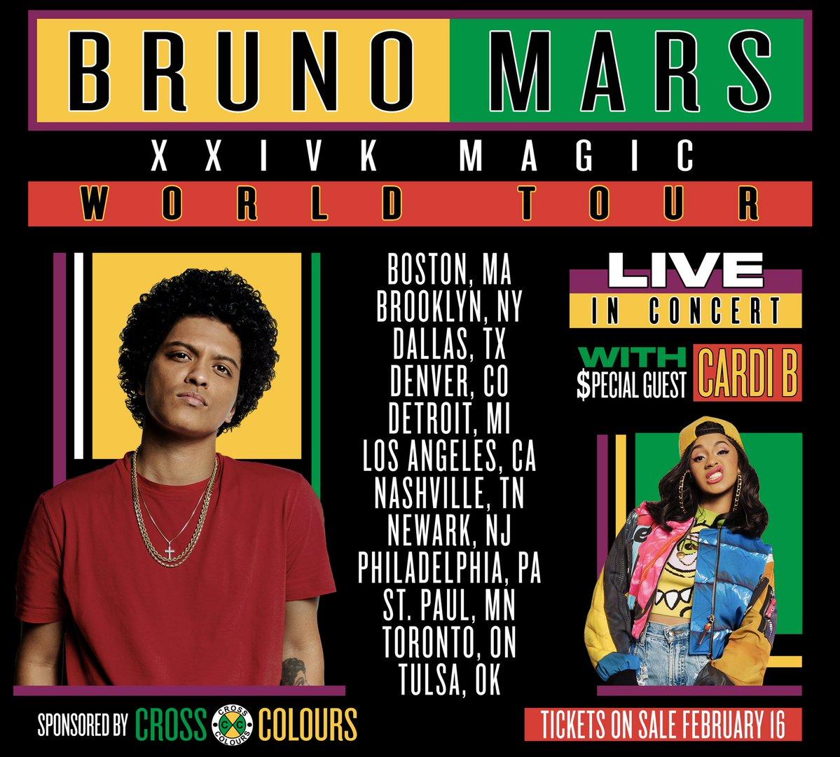 Bruno mars tour dates in Brisbane
