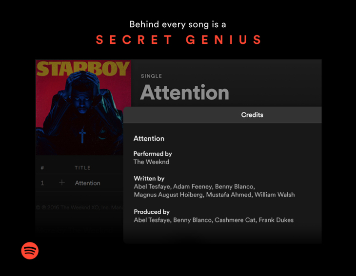 Spotify Now Displays Songwriter Credits