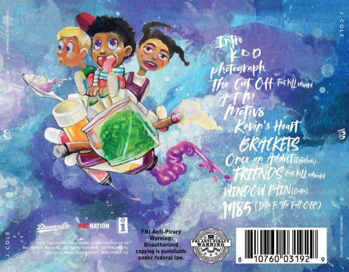 J Cole Reveals K O D Artwork Amp Track List Hiphop N More