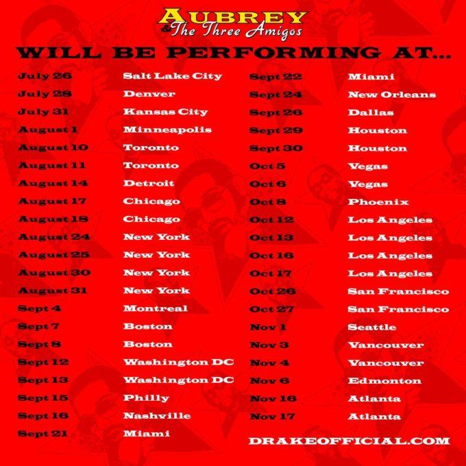Amigos Tour Dates