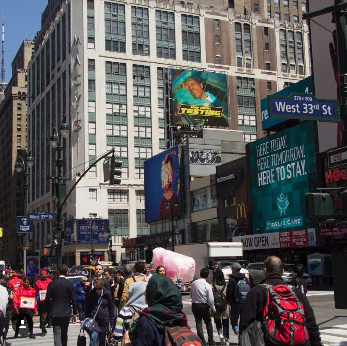 Billboard For ASAP Rocky's 'Testing' Album Appears in New