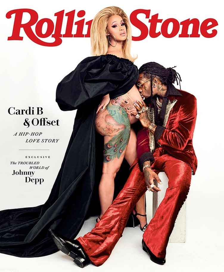 Cardi B Shows Off Her Bare Baby Bump On Rolling Stone