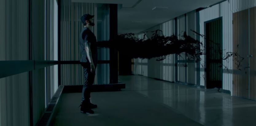 Spectre jumping into Eminem's body and possess the rapper.