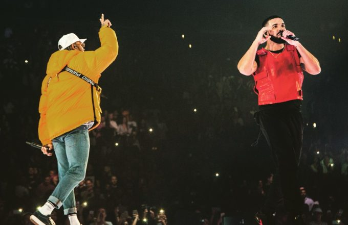Drake ends beef with Chris Brown on stage in L.A.