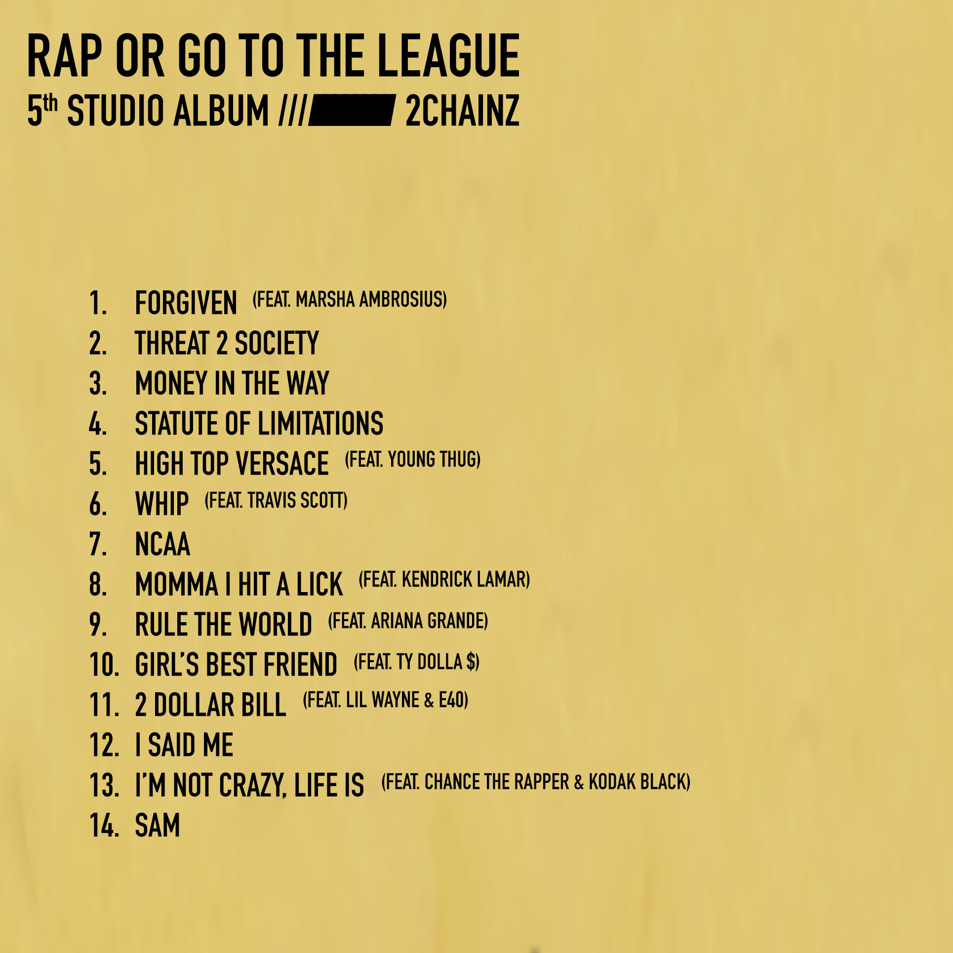 2 Chainz Releases New Album 'Rap Or Go To The League