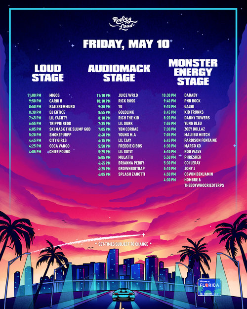 "World's Largest Hip-Hop Festival ""Rolling Loud"" Kicks Off Friday At Hard Rock Stadium"